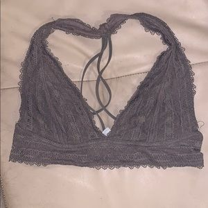 Free people grey lace bralette small